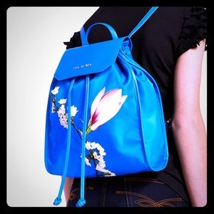 Ted Baker Blue Harmony Floral Drawstring Backpack